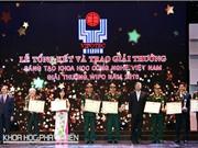 Trao Giải thưởng Sáng tạo khoa học và công nghệ Việt Nam 2016