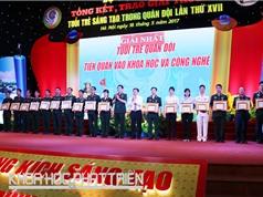 Trao giải Tuổi trẻ sáng tạo trong quân đội cho 209 công trình, sáng kiến
