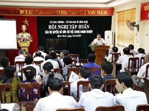 Ninh Bình tập huấn Bảo hộ quyền sở hữu trí tuệ trong doanh nghiệp
