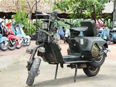 Bản độ Vespa cổ theo phong cách quân đội tại Việt Nam