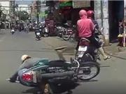 Clip: Đôi nam nữ gây tai nạn rồi thản nhiên bỏ đi