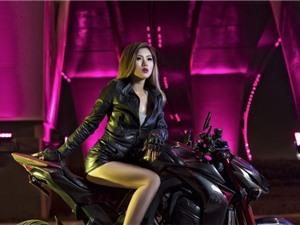 Hot girl môtô Thu Anh đọ dáng Kawasaki Z1000