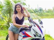 Mỹ nhân Việt nóng bỏng bên siêu môtô Honda CBR1000RR