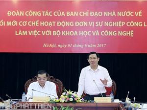 Phó Thủ tướng Vương Đình Huệ: Cần nâng cao năng lực các tổ chức KH&CN công lập