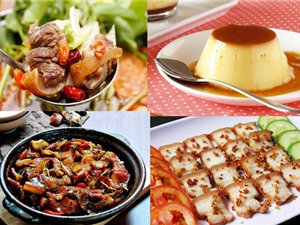 Món ngon trong tuần: Lẩu đuôi bò, thịt ba chỉ chiên sả ớt, cá trắm kho tương bần, bánh pudding trứng