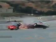 Clip: Tài xế gây tai nạn nghiêm trọng vì trả đũa xe máy