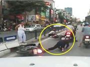 CLIP HOT NGÀY 24/6: Dính tai nạn thảm khốc vì tránh cụ già, suýt chết khi vượt ẩu