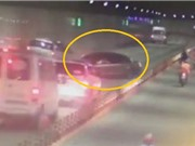 Clip: Chạy ngược chiều, ô tô gây tai nạn liên hoàn tại hầm Thủ Thiêm