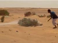 Clip: Ngỡ ngàng trước cảnh mang chài ra sa mạc để… bắt chim