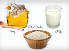 Gương mặt trẻ hơn 10 tuổi nhờ mặt nạ dưỡng da từ gạo, sữa và mật ong