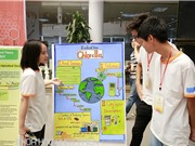 Học sinh nghiên cứu dầu sinh học chiết xuất từ tảo lục