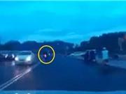 Clip: Quái xế phóng nhanh, tông trực diện du khách ở Đà Lạt