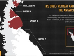 Tảng băng 1.000 tỷ tấn tách khỏi Nam Cực