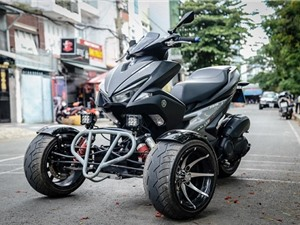 Yamaha NVX độ 3 bánh độc đáo tại Việt Nam