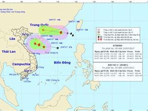 Áp thấp nhiệt đới mạnh thêm, bão số 3 dự báo suy yếu