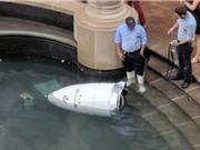 Robot an ninh Mỹ 'chết đuối' ở đài phun nước