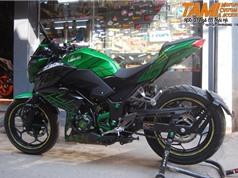"""Cận cảnh môtô Kawasaki Z300 """"độ khủng"""" của dân chơi Hà thành"""