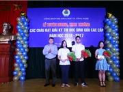 Bộ KH&CN tuyên dương, khen thưởng học sinh giỏi năm 2016-2017