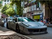 Hình ảnh sêu xe Ferrari 458 độ Liberty Walk trên phố Sài Gòn