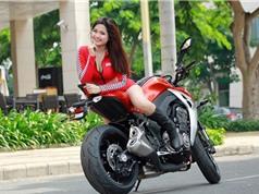 Mỹ nhân Việt đọ cá tính cùng xe môtô Kawasaki Z1000