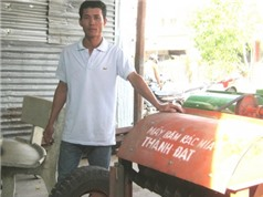 Nông dân chế tạo máy băm rác mía
