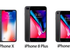 So sánh cấu hình iPhone 8, iPhone 8 Plus, iPhone X với các đối thủ Android