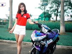 Mỹ nhân Hà Nội đọ dáng xe máy Yamaha Exciter 150