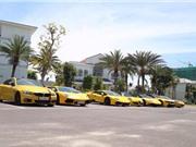 Cận cảnh dàn siêu xe triệu đô của đại gia Sài Gòn xuất hiện ở miền Trung