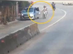 Clip: Mở cửa bất cẩn, taxi gây tai nạn rồi bỏ chạy