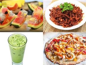 Món ngon trong tuần: Bánh pizza hải sản, chân gà rang muối, trà sữa Thái xanh, đuôi heo chiên giòn