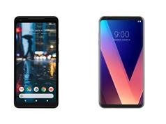 Google Pixel 2 XL so dáng, cấu hình với LG V30