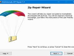 Mẹo khôi phục tập tin zip bị lỗi trên Windows