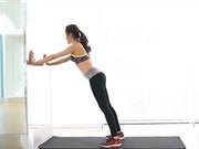 Clip: Giảm mỡ toàn thân bằng bài tập với tường
