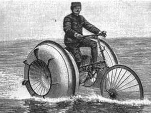 Những mẫu xe đạp trên nước độc đáo của người xưa