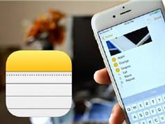 Hướng dẫn cài đặt mật khẩu cho ứng dụng Notes trên iOS 11