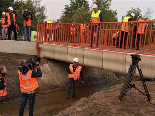 Hà Lan khánh thành cầu bê tông in bằng công nghệ 3D