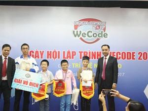 Đã tìm được thí sinh Việt Nam tham dự WeCode quốc tế năm 2017