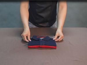 Clip: Những cách gấp quần áo phẳng phiu như ngoài shop