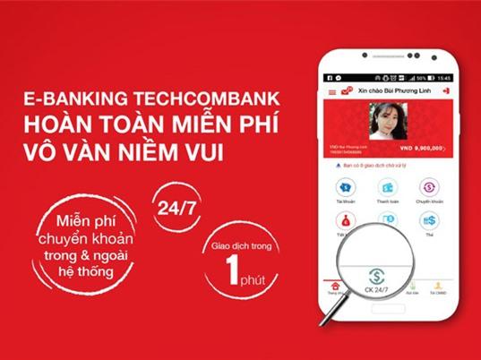 Techcombank cho đăng ký e-banking trực tuyến