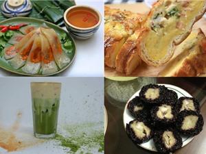 Món ngon trong tuần: Rau câu trái dừa, bánh bột lọc gói lá chuối, bánh mì nướng trứng phô mai