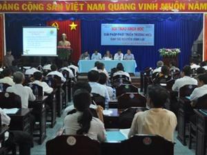 """Bạc Liêu tìm giải pháp phát triển thương hiệu """"Gạo Tài nguyên Vĩnh Lợi"""""""