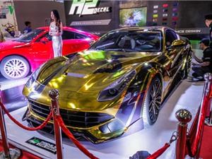 Chiêm ngưỡng Ferrari F12 Berlinetta màu vàng tại VIMS 2017