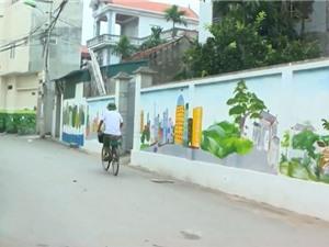 """Clip: Thanh niên Đan Phượng, Hà Nội tạo """"hoa nở trên tường"""""""