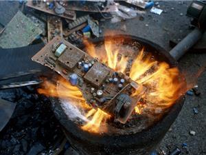 """""""Đãi vàng"""" từ rác thải điện tử"""