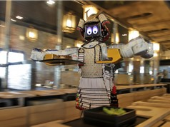 Robot làm hết việc bồi bàn tại nhà hàng Thái Lan
