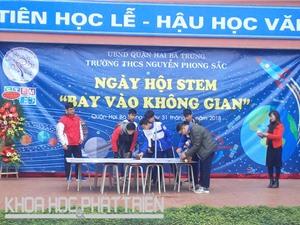 Khám phá ngày hội STEM của học sinh Trường THCS Nguyễn Phong Sắc, Hà Nội