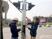 """TP Vinh: Lần đầu ứng dụng công nghệ """"làn sóng xanh"""" tín hiệu đèn giao thông"""