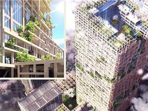 Tokyo xây dựng tháp gỗ cao 350m