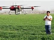 Dùng thiết bị bay không người lái để thụ phấn cho cây trồng