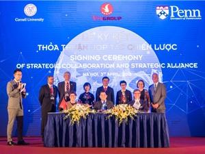 Vingroup ký kết hợp tác chiến lược với hai đại học tinh hoa của Mỹ